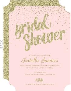 Gold Glitter Confetti Bridal Shower Ivitation