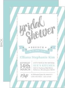 Fun Glitter Typography Bridal Shower Invitation Card