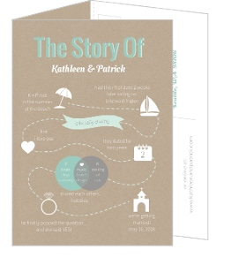 Love Story Rustic Timeline Wedding Invitation