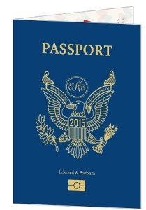 Fun Custom Passport Wedding Invitation Card