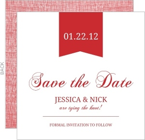 Red Modern Banner Save The Date