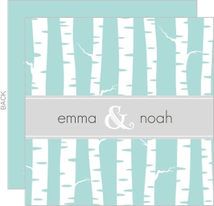 Blue and White Wintry Wedding Invitation