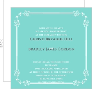 Classic Tiffany Blue Wedding Invitation