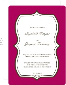 Bold And Beautiful Wedding Invitation