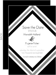 Modern Stripe Wedding Save The Date