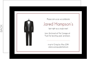 Classy Bachelor Party Party Invitation