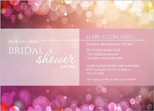 Soft Pink Bubbles Bridal Shower Invite