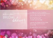 Soft Pink Bubbles Bridal Shower Invite