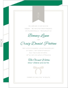 Bold Stripes Classic Wedding Invitation