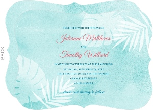Tropical Watercolor Palms Wedding Invitation