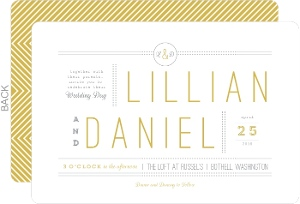 Beautiful Modern Statement Typography Wedding Invitation