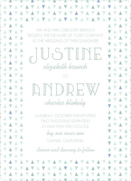 Deep Sea Beach Glass Pattern Wedding Invitation