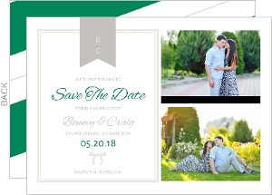 Bold Stripes Classic Save The Date Card
