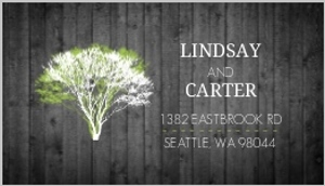 Modern Rustic Gray and White Tree Address Label