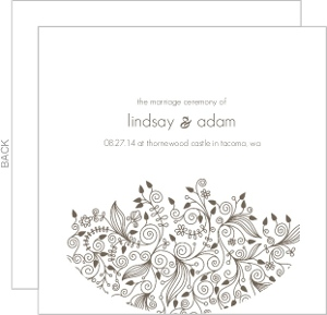 Elegant And Simple Wedding Program