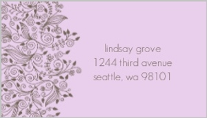 Elegant simple address label 386 1 big