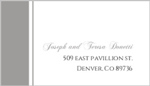 Classic white gray stripe address label 410 1 big