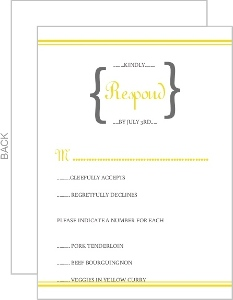 Bright Yellow with White Response Card