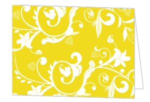 Bright Yellow with White Thank You Card