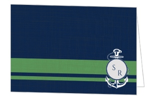 Green and Blue Nautical Thank You Card