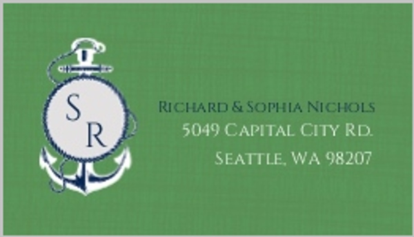 Green and Blue Nautical Address Label
