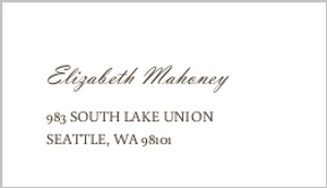 Bold beautiful address label 424 1 big