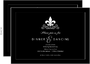 Black and White Fleur de Lis Enclosure Card