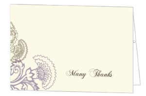 Vintage Purple Floral Thank You Card