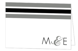 Modern Stripe Thank You Card