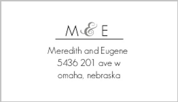 Modern Stripe Address Label