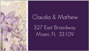 Elegant Purple Floral Address Label
