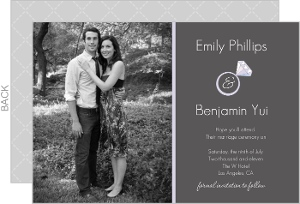 Sophisticated Gray Save The Date