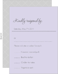 Sophisticated Gray Response Card