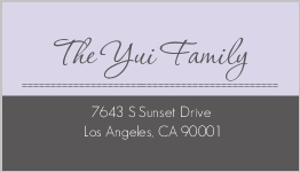 Sophisticated gray address label 471 1 big
