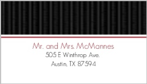 Black White and Red Cherry Blossom Address Label
