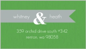 Green gray modern address label 489 1 big