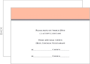 Old Fashion Style Pink with White Lace Response Card