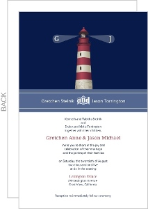 Cape Cod Lighthouse Wedding Invitation