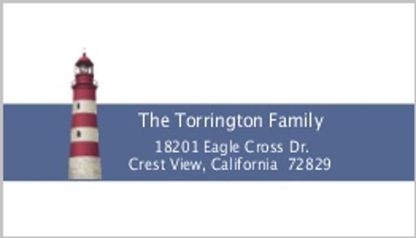 Cape Cod Lighthouse Address Label