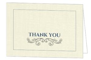Intricate Gray Flourish Thank You Card