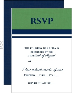 Green And Blue Nautical Themed Response Card