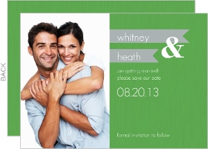 Green and Gray Modern Save the Date