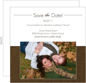 Elegant Textured Brown Save The Date