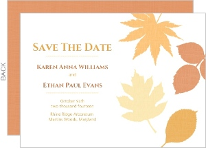 Multi Colored Fall Leaves Save The Date
