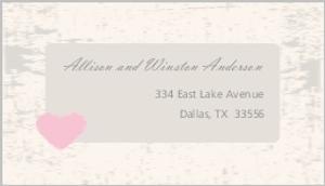 Rustic Heart Barn Door Address Label