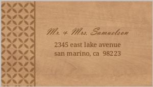 Rustic Woodgrain Floral Address Label