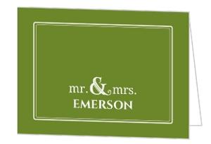 Rustic Green Fall Acorn Thank You Card