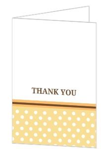 Polka Dot Orange and Brown Fall Leaves Thank You Card