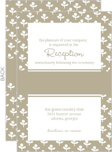 Simple Taupe and Delicate White Flowers Enclosure Card