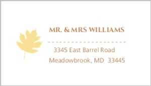 Multi Colored Fall Leaves Address Label